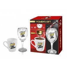 Women's gift coffee and wine